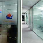 Thi công dán decal kính mờ văn phòng công ty giá rẻ tại TP.HCM